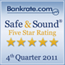 Safe & Sound Five Star Rating – 4th Quarter 2011